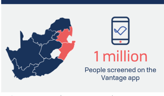 ANNOUNCEMENT: 1 million people screened for COVID-19 on Vantage